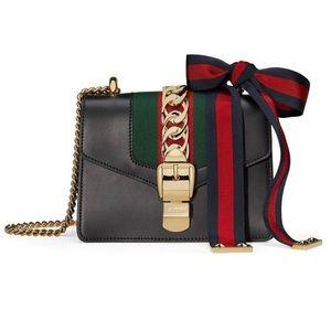 Gucci Sylvie Calfskin Leather Mini Chain Bag